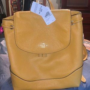 Mustard Yellow Coach backpack